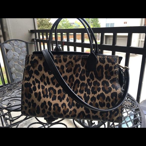 4f00bb9df kate spade Handbags - Kate Spade Dunne Lane Leopard Print Lake Satchel